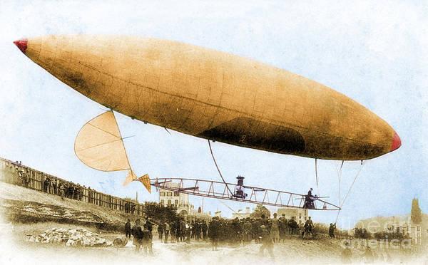 Photograph - Santos-dumont No. 6 1901 by Science Source