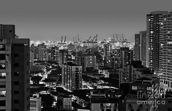 Photograph - Santos - Sao Paulo - Brazil - Buildings And Harbor by Carlos Alkmin