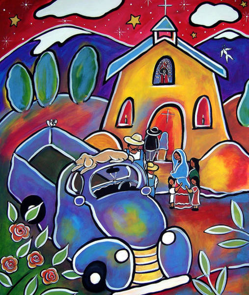 Painting - Santuario De Milagro  - Chapel Of Miracles by Jan Oliver-Schultz