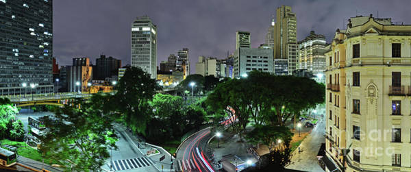 Photograph - Sao Paulo Downtown At Night - Praca Do Correio by Carlos Alkmin