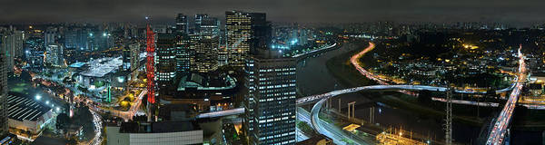 Sao Paulo Skyline Modern Corporate Districts Brooklin Morumbi Chacara Santo Antonio Art Print