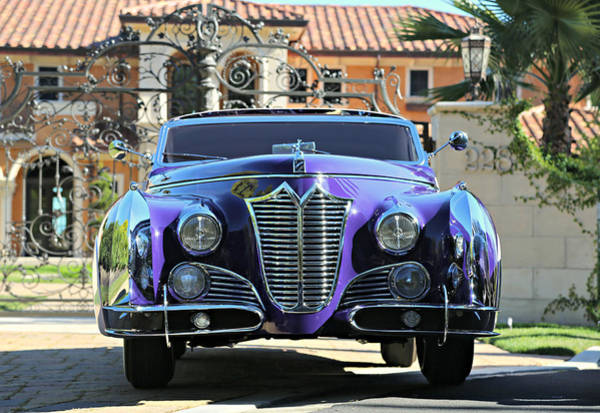 Photograph - Saoutchik Cadillac At The Gate by Steve Natale