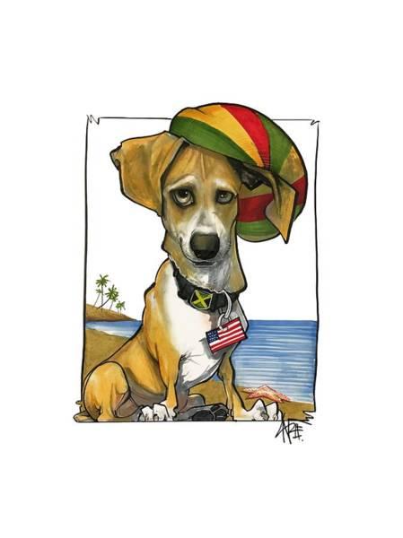Pet Portrait Drawing - Saplak 3025  by John LaFree