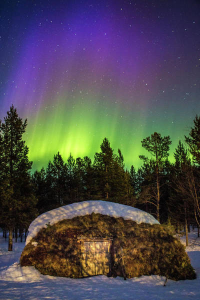 Photograph - Sapmi Hut Under The Norther Lights Karasjok Norway by Adam Rainoff