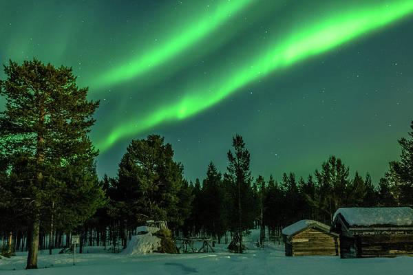 Photograph - Sapmi Village Under The Northern Lights Karasjok Norway by Adam Rainoff