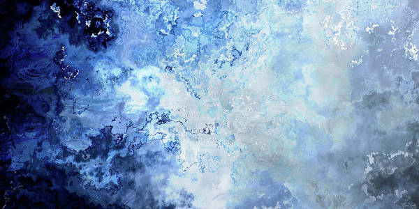 Digital Art - Sapphire Dream - Custom Version 2 - Abstract Art by Jaison Cianelli