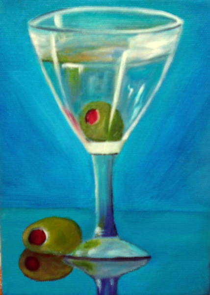 Painting - Sapphire Martini by Susan Dehlinger