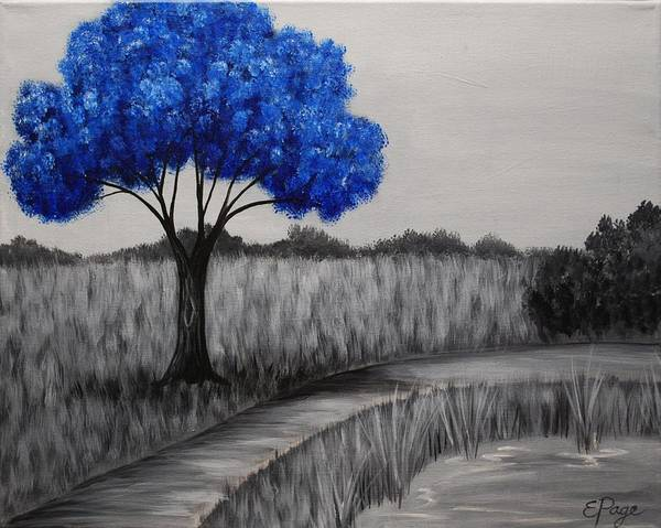 Painting - Sapphire Tree by Emily Page