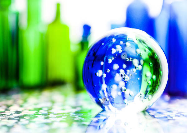 Bottle Green Photograph - Sapphires And Emeralds I by Jon Woodhams