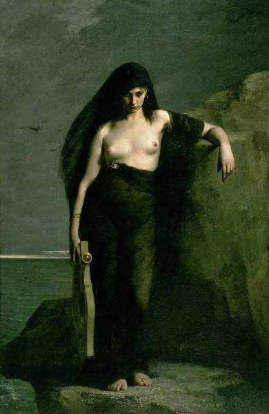 Painting - Sappho by Auguste Mengin