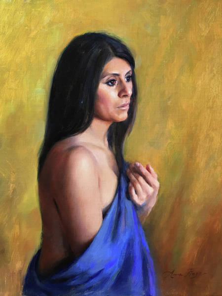 Figurative Wall Art - Painting - Sara by Anna Rose Bain