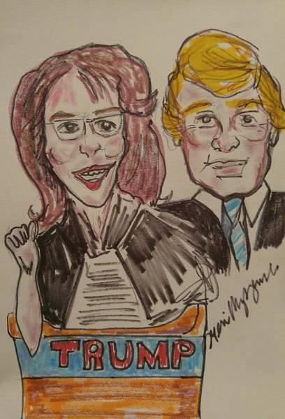 Presidency Digital Art - Sara Palin And Donald Trump by Geraldine Myszenski