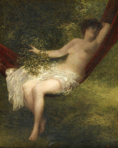 Sara Painting - Sara The Bather by Henri Fantin-Latour