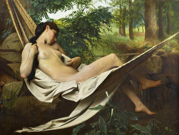 Sara Painting - Sara The Bather  by Philippe Jolyet