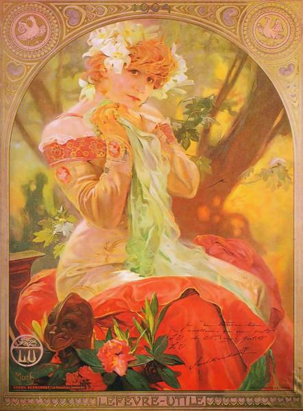 Painting - Sarah Bernhardt As Princess Lointaine by Alphonse Mucha