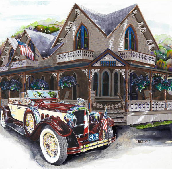 Wall Art - Painting - Sarah Elizah The Packard by Mike Hill