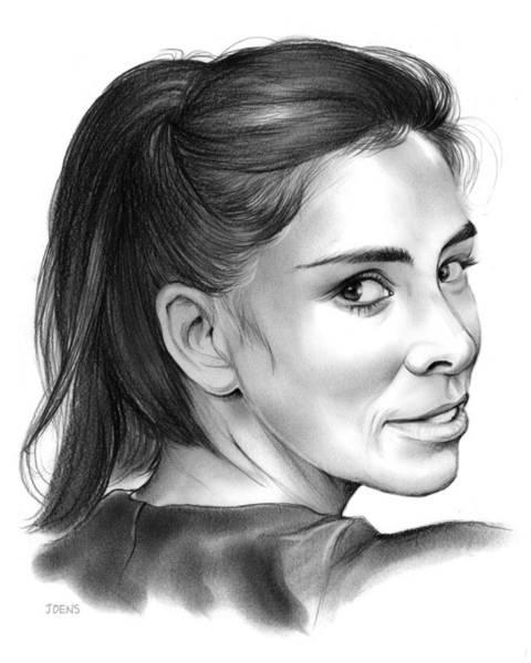 Comedy Wall Art - Drawing - Sarah Silverman by Greg Joens