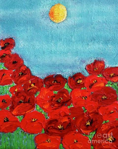 Sarah's Poppies Art Print