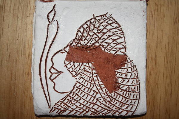 Ceramic Art - Sarai - Tile by Gloria Ssali