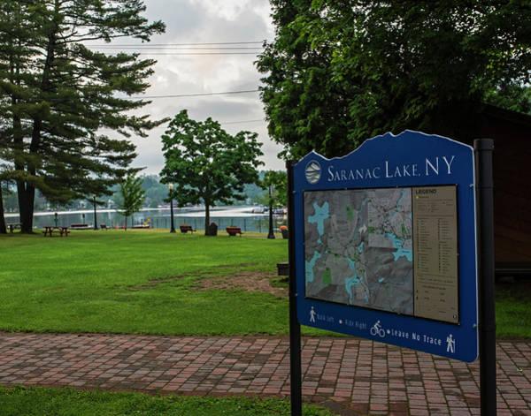 Photograph - Saranac Lake Sign Saranac Lake Ny New York by Toby McGuire