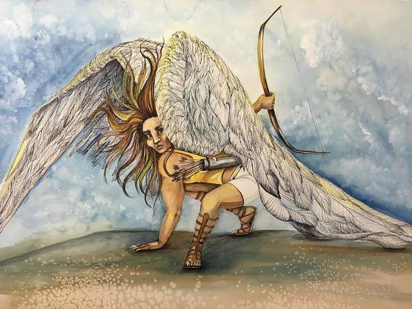 Mixed Media - Cherubim  by Mastiff Studios