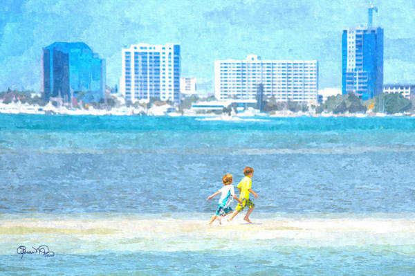 Photograph - Sarasota City View Sandbar Race by Susan Molnar