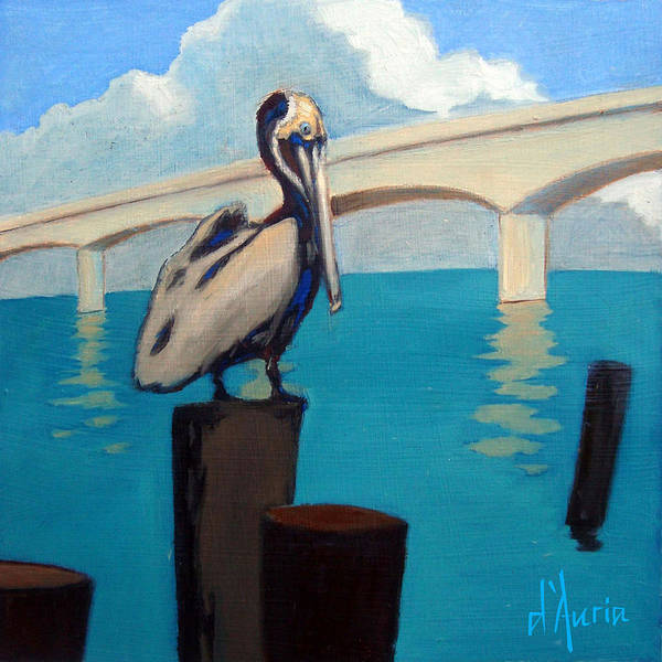 Saltwater Painting - Sarasota by Tom Dauria