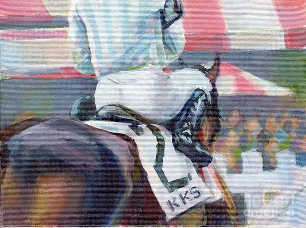 Thoroughbred Racing Wall Art - Painting - Saratoga Stripes by Kimberly Santini