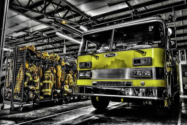 Fire Truck Wall Art - Photograph - Saratoga Vfd by Christopher Thomas