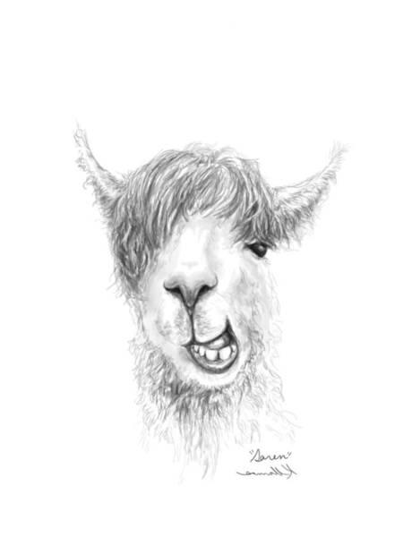 Llama Drawing - Saren by K Llamas