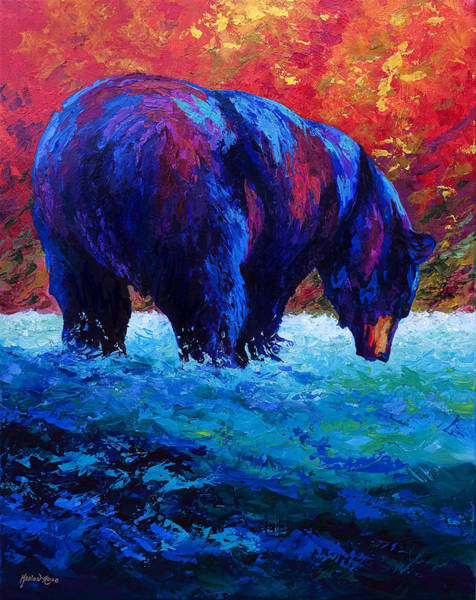 Bear Painting - Sashimi Daze by Marion Rose