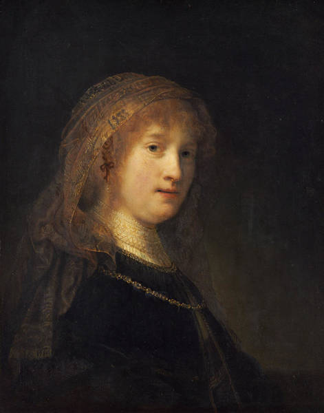 Painting - Saskia Van Uylenburgh, The Wife Of The Artist by Rembrandt