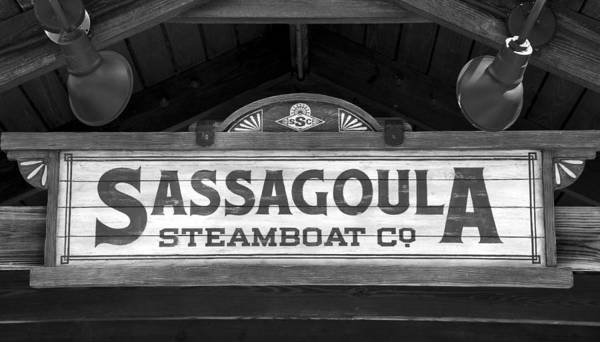 Wall Art - Photograph - Sassagoula Steamboat Company Sign by David Lee Thompson