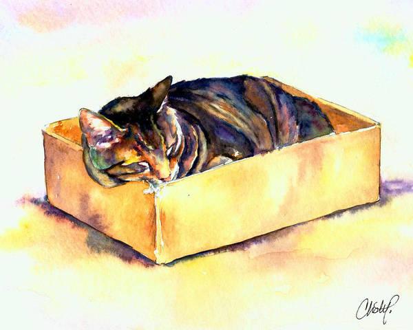Sassy Sleeping Art Print