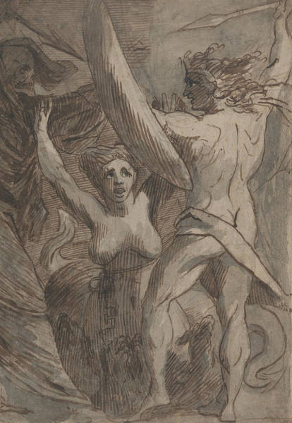 Drawing - Satan, Sin, And Death by James Barry