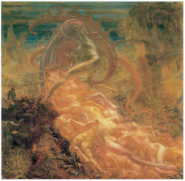Satan Painting - Satan's Treasures by Jean Delville