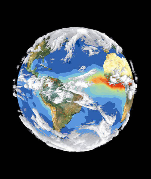 Photograph - Satellite Image Of Earth's Interrelated Systems And Climate by Artistic Panda