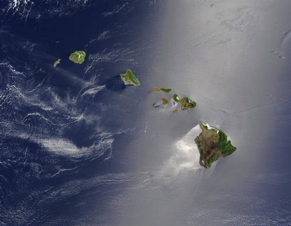 Photograph - Satellite View Of Hawaii Archipellago by Artistic Panda