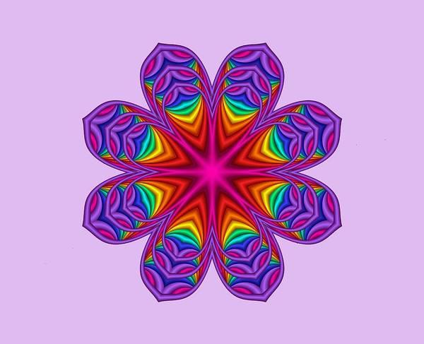 Digital Art - Satin Fractal Flower 3 by Ruth Moratz