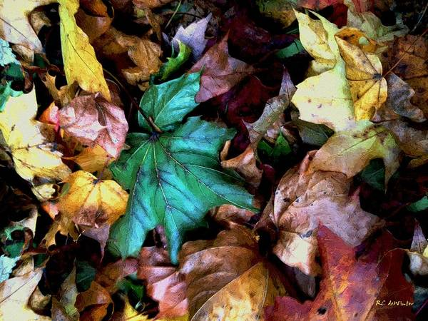 Painting - Satin Leaves by RC DeWinter
