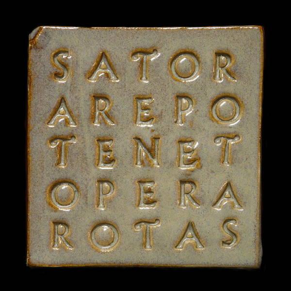Ceramic Art - Sator Square Stone by Richard Reeve