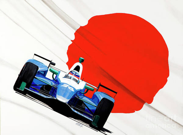 Autosport Painting - Sato's Attack by William Homeier