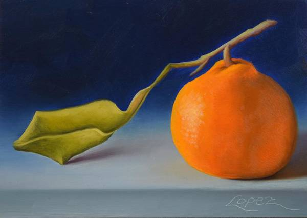 Wall Art - Painting - Satsuma Mandarin I by Gema Lopez