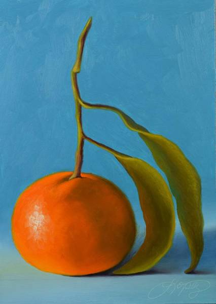 Wall Art - Painting - Satsuma Mandarin II by Gema Lopez