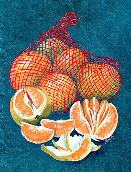 Wall Art - Painting - Satsumas by Elaine Hodges
