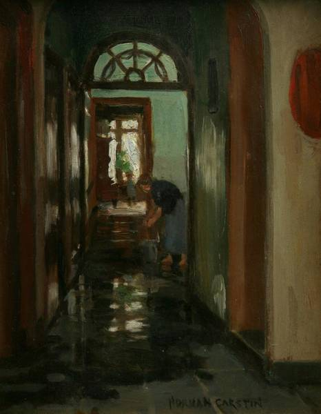 Newlyn Painting - Saturday  An Interior View Of Garstin's Home  by Norman Garstin