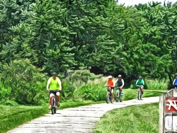 Saturday Bike Ride Art Print