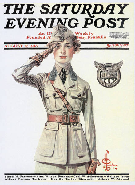 Photograph - Saturday Evening Post, 1918 by Granger
