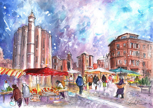 Painting - Saturday Market In Albi 02 by Miki De Goodaboom