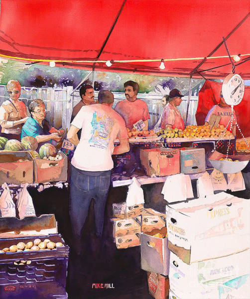 Potato Painting - Saturday Market by Mike Hill